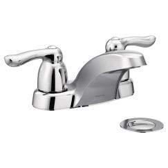 - Chateau Double Handle Centerset Low Arc Bathroom Faucet