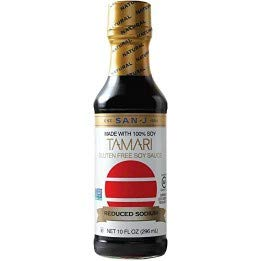 San J Reduced Sodium Tamari Soy Sauce, 10 Ounce -- 6 per case.