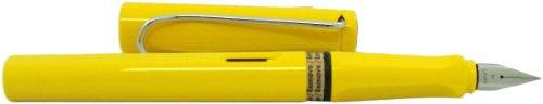LAMY Safari Fountain Pen, Yellow Medium Nib (L18M)