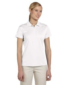 adidas Golf Ladies Climalite(r) Pique Short-Sleeve Polo A131 White