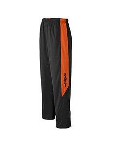 Augusta Sportswear Mens Medalist Pant, Black/Orange, Small