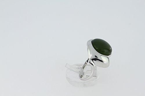 Bague en Jade 42-20 - Bijoux en argent rhodié et Jade - Toutes tailles et diverses pierres - ARTIPOL