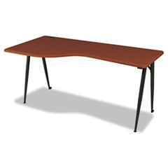 * iFlex Series Full Table-Left, 65w x 24d x 29h, Cherry/Black * by  (Image #1)