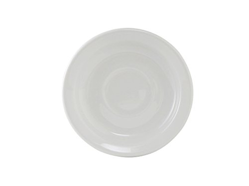 Cups Saucers Safe Oven (Tuxton CLE-057 Vitrified China Alaska/Colorado Accessories Saucer, Narrow Rim, 5-7/8