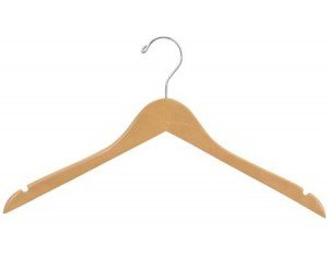 The Great American Hanger Company Wood Top Dress Hanger, Natural Finish, Box of 100 -