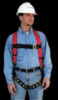 MSA 10033839 FP PRO Vest Style Harness, Back and Hip Two Side D-Ring, Tongue Buckle Leg Straps, -