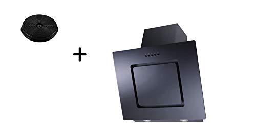Aktivkohlefilter respekta Umluftset/_CH22010SX+MIZ0031 Dunstabzugshaube Schr/äghaube kopffrei schwarz 60 cm