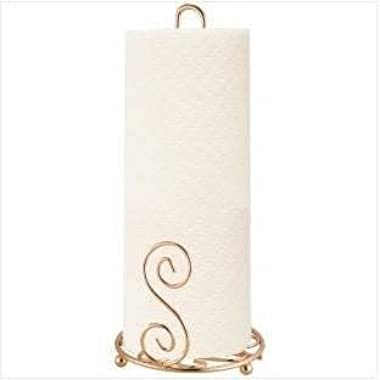 Home Basics Rose Gold Paper Towel Holder