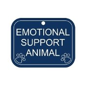 EMOTIONAL SUPPORT ANIMAL TAG FOR MEDIUM TO LARGE ANIMAL (Register My Dog As A Service Dog)
