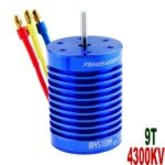 Mystery 9T 4300KV Brushless Motor for 1:10/1:12 Scale Electromotion SUV/RV Car(Blue)