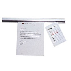 Display Rail - ADVANTUS Grip-A-Strip Display Rail, Personal Size, 2 Feet Long, Satin Finish Aluminum (2000)