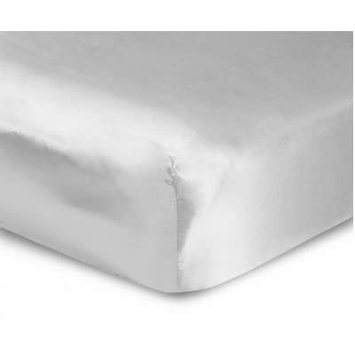 Elle & Alix 100% Mulberry Silk Fitted Sheet Good for Skin & Hair (Silver, King): Home & Kitchen