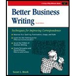 Better Business Writing, Brock, Susan, 1560520167