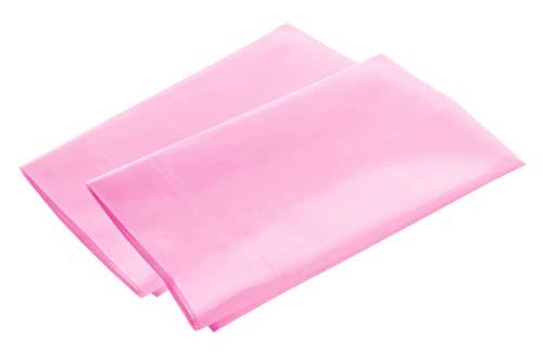Luxury Egyptian Cotton 300 Thread Count 2-Piece Pillowcase Set 21 x 32 Inch - Standard, Pink