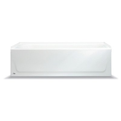 BOOTZ INDUSTRIES 011-7001-001 Bootzcast Bathtub, Porcelain On Steel, Left-Hand Outlet, White, 5' - 102569