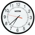 VALCOM Valcom V-Aw16lp 16 Round Wireless Clock, Black, Surface Mount
