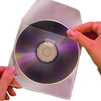 Self-Adhesive CD/DVD Pockets- Top Load (Qty 100) (Cd Self Pockets Adhesive)