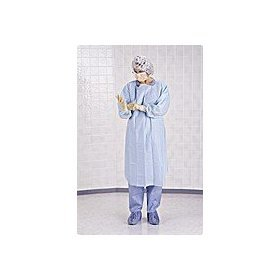 Medline NONTH150 Thumbs Up Polyethylene Isolation Gown, Latex Free, Regular/Large, Blue (Pack of 75)