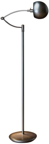 (Holtkoetter Halogen Swing-Arm Floor Lamp with P1 Dimming System, Hand-Brushed Old)