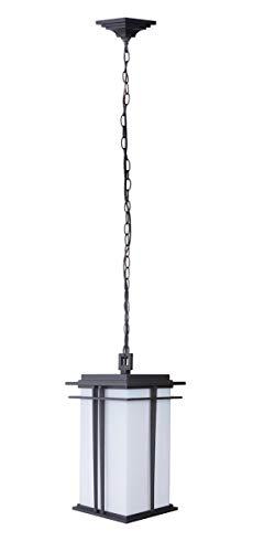 Light 1 Winslow Pendant - Outdoor Pendant 1 Light Fixtures with Oiled Bronze Finish Die Cast Aluminum Material Medium 9