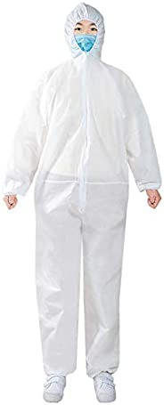Protective Overall Coverall Suit, Polypropylene, Light Duty,for Laboratory,DIY Work,Workshop,Outdoor Working