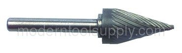 CBD Burr Rapidkut FP50SM43 SM43 1//8 x 5//8 x 1//8 SH SGL Cut Cone Shape
