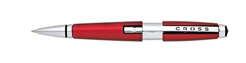 Cross(R) Edge Rollerball Pen, Medium Point, 0.7 mm, Red Barrel, Black Ink (Edge Cross)