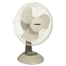 Lorell LLR44551 Desk Fan, 12'' by Lorell