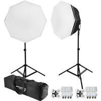 - Westcott uLite 2 Light Octabox 200W Fluorescent Kit