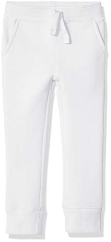 Amazon Essentials Boy's Fleece Jogger, White, Medium (Boys Lightweight Sweatpants)