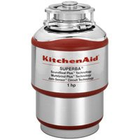 KitchenAid KCDS100T 1 hp Continuous Feed Food Waste Disposer, Red by KitchenAid