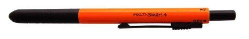 OHTO Multi-Function Pen, MULTI-Smart 4, 0.5 mm Mechanical Pencil, Ballpoint Pen, Orange (MF-15ST4-Orange)
