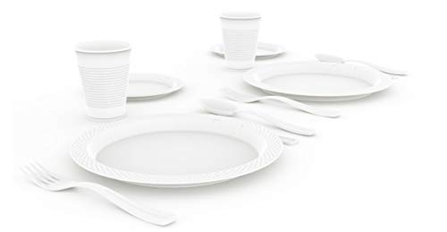 Exquisite 12-Pack Premium Plastic Tablecloth 54 Inch. x 108 Inch. Rectangle Table Cover-White - Premium quality protection: This 12 pack of 54 in. X 108 in. Rectangle White plastic tablecloths will cover any table up to 8 feet. Unlike your typical paper Table clothes these disposable table covers for parties are spill and waterproof! ! ! High opacity: covers any Table with minimal transparency. Great plastic Tablecloth For parties, weddings, holiday party, birthday parties, Christmas, thanksgiving dinner, BBQ, and any other color themed event. Disposable: disposable works! When the party is over, cleanup is easy - just Roll up the disposable tablecloth and dispose of it. - tablecloths, kitchen-dining-room-table-linens, kitchen-dining-room - 21zRFgz7F9L -