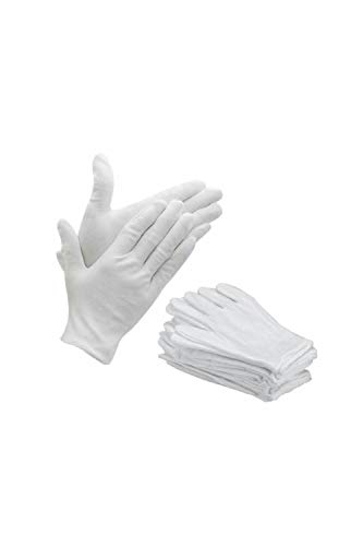 Bon Organik Reusable Cotton Gloves (Pack Of 10) (Free Size), White