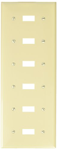 - Morris 81063 Lexan Wall Plate for Toggle Switch, 6 Gang, Almond