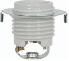 Satco Keyless Threaded Porcelain Socket with Hickey and Ring - 801679 - Threaded Base