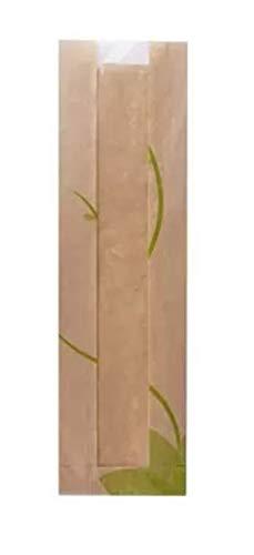 Bolsas kraft de bocadillo, pan, con ventana 34 x 10 x 4 cm ...
