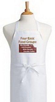 Blazers Proforms Costumes - Funny Cooking Apron Four Basic Food Groups Novelty Kitchen Aprons by (Funny Work Group Costumes)