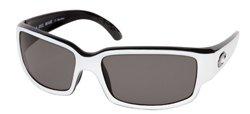 Costa Del Mar Caballito Sunglasses White Black / Gray 580Glass