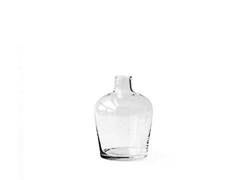 "Hosley's Glass Inhale Bottle Vase, 7"" High. Ideal Gift for W"