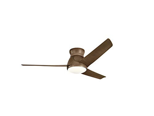 - KICHLER 310160WN Eris Ceiling Fan, Walnut