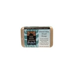 One With Nature Dead Sea Mineral Mud Soap with Argan Oil & Shea Butter 7 oz (Pack of 6)