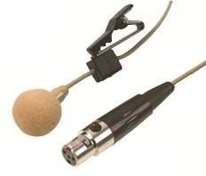 Lavalier Microphone with Tie Clip and 4pinミニXLRプラグ – ベージュ   B00BCRWG0C