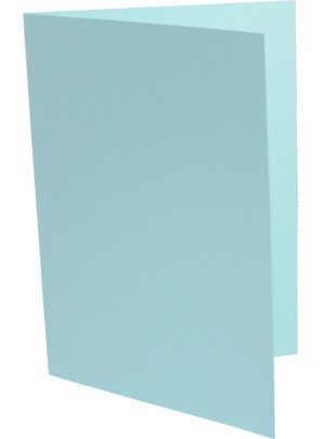 100 Doppelkarten DIN Lang ( DL ) mittelblau B003KVWSTM | Verschiedene Stile