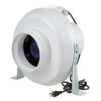 VENTS-US VK 150 In-Line Centrifugal Plastic Fan, 6-Inch