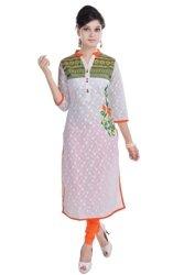 Vihaan Impex Tunika Damen Kleidung Damen Indische Kleidung Kurta Damen Indische Tunika Damen Tunika VIKU2381
