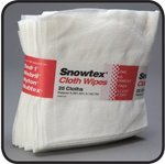 Snowtex QF82 16'' x 17'' White Rayon Cloth Wipes (Case of 375 wipes)