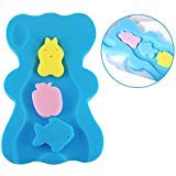 Soft Infant Baby Bath Sponge Cushion Anti Bacterial and Skid Proof Baby Bath Mat Newborn Odor Free