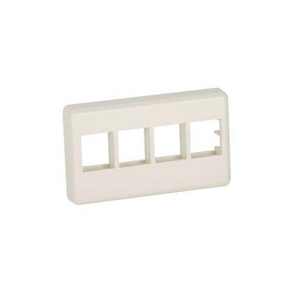 - NK4MFWH: Panduit NK 4-Port, Modular furniture Faceplate, White, Pack of 4
