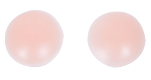 Womens Adhesive Silicone Nipple Skin Cover Pasties Round Nude